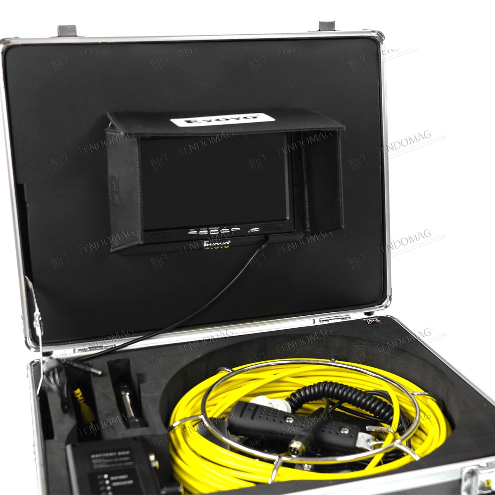 Технический промышленный видеоэндоскоп для инспекции труб Eyoyo WF92 для инспекции, 30 м, с записью - 3
